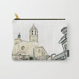 Stairs to the Beach from a medieval Church in Sitges near Barcelona Carry-All Pouch