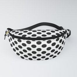 Black and White Small Polka Dots Fanny Pack