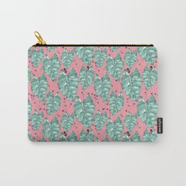 Watercolor tropical leaves pattern Carry-All Pouch