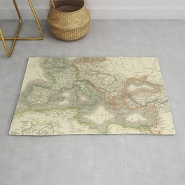 Vintage Map of The Roman Empire (1844) Rug