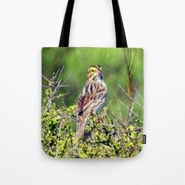 Savannah Sparrow Tote Bag