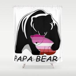 Papa Bear Lesbian Shower Curtain