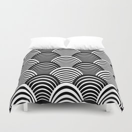 Black and White Art Deco Pattern Duvet Cover