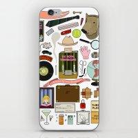 the royal tenenbaums iPhone & iPod Skins featuring The Royal Tenenbaums by Shanti Draws