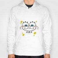 spongebob Hoodies featuring Spongebob Naughty Face by Cute Cute Cute