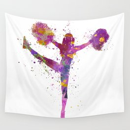 young woman cheerleader 04 Wall Tapestry