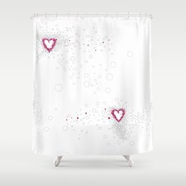 Digital Unfinished Love Intoxication Shower Curtain