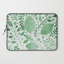 Branches and leaves - green Laptop Sleeve