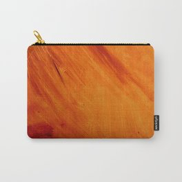 Orange and Red Abstract Acrylic Painting Carry-All Pouch
