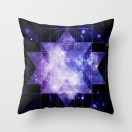 galaxy sacred Geometry Throw Pillow
