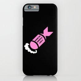 pink black whisle like a missle iPhone Case