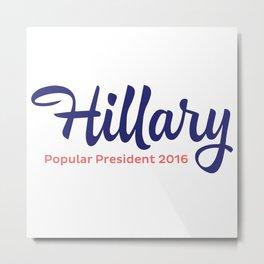 Hillary Script Metal Print