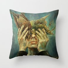 With one Stone. Throw Pillow