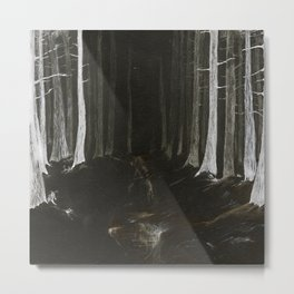 Season of the Land - Haunted Forest Metal Print
