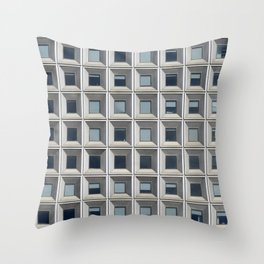 New York Facade Throw Pillow