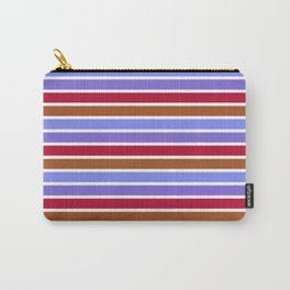 Modern violet red brown geometrical stripes pattern Carry-All Pouch