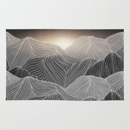 Lines in the mountains XIX Rug