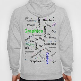 Modern abstract black white colorful splatters typography Hoody