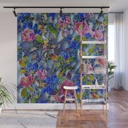 embossed floral Wall Mural