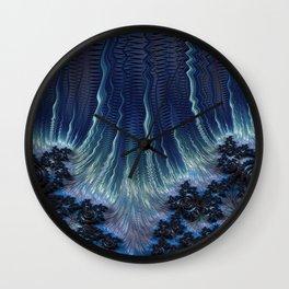 Fractal Falls Wall Clock