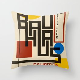 Bauhaus Poster I Throw Pillow