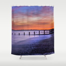 Sunset over Dymchurch Shower Curtain