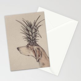 pineapple head Stationery Cards