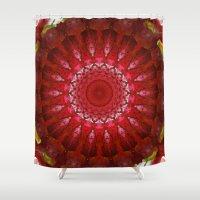 Oriental Lily Mandala Shower Curtain