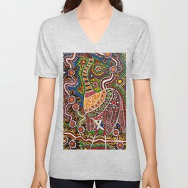 """Emu-In-The-Sky"" Unisex V-Neck"