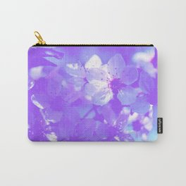 Blue Spring flowers minimalist and simple design Carry-All Pouch