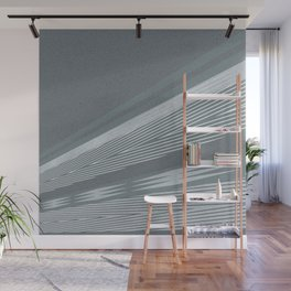 Abstract asymmetrical pattern in shades of gray . Wall Mural