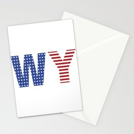 Wyoming 4th Of July Stationery Cards