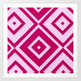 Pink Diamonds Art Print
