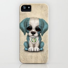 Cute Puppy Dog with flag of Guatemala iPhone Case