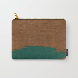 Copper and Green Abstract Carry-All Pouch