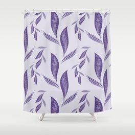 Ultraviolet Foliage #society6 #pattern #ultraviolet Shower Curtain