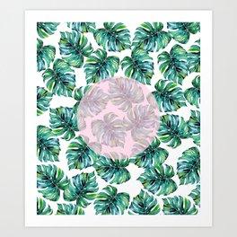 Monstera Pattern V1 #society6 #decor #buyart Art Print