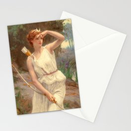 Guillamume Seignac Diana The Huntress 1870 Roman Mythology Goddess Of The Hunt Moon And Nature Stationery Cards