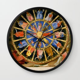 "Fra Angelico (Guido di Pietro) ""The Mystical Wheel (The Vision of Ezekiel)"" Wall Clock"