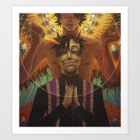 Spookstar Angel/Demon Art Print