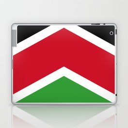 Chevron Malawi Flag Colors Laptop & iPad Skin