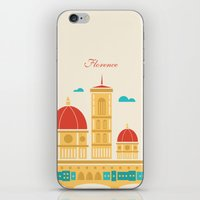 florence iPhone & iPod Skins featuring Florence by Marina Design