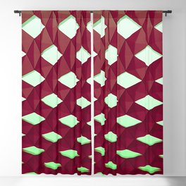 Trapez 4/5 Red and green by Brian Vegas Blackout Curtain