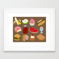 food Framed Art Prints featuring Food by John Holcroft