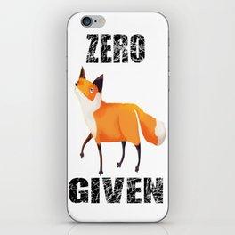 Zero Fox Given iPhone Skin