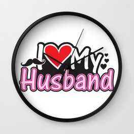 I Love My Husband - Couple Match Wall Clock