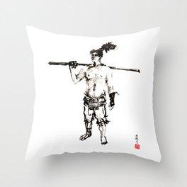 Yagyu Mitsuyoshi Legendary Samurai  Throw Pillow