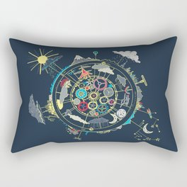 Running Like Clockworld Rectangular Pillow