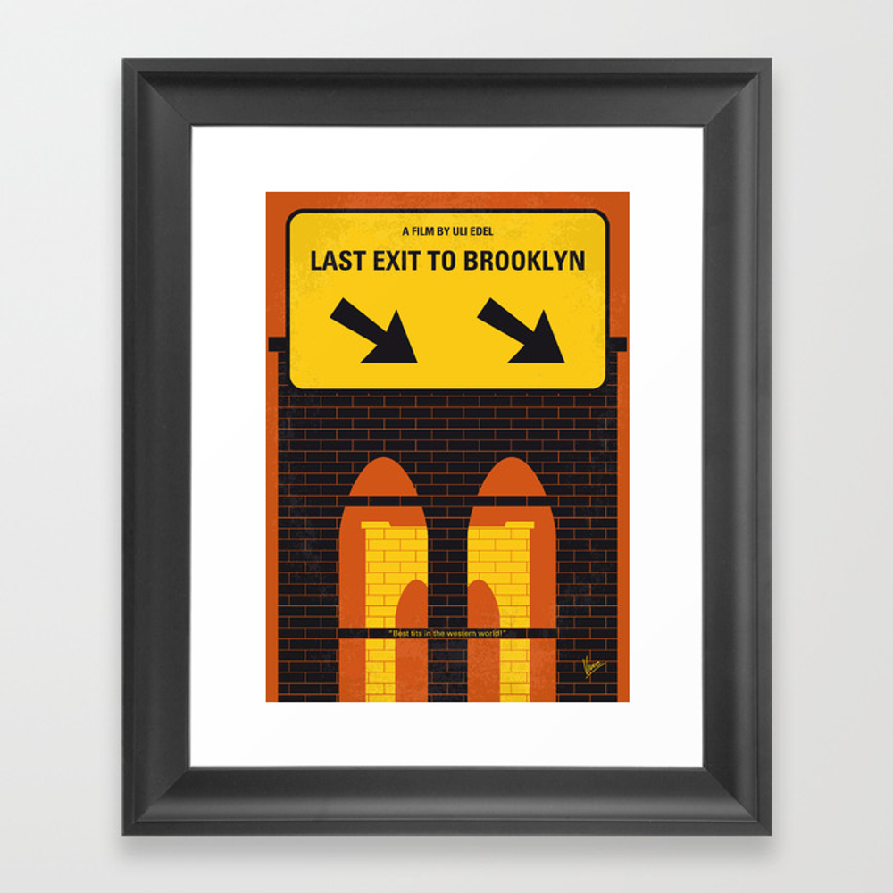 No879 My Last Exit To Brooklyn Minimal Movie Poste… Framed Art Print by Chungkong FRM8409436