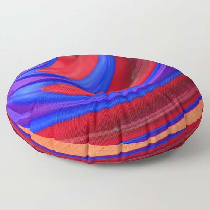 Beautiful Abstract Art by Raphael Terra Floor Pillow